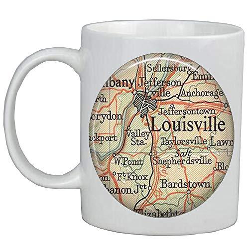 (Fashion Coffee Mug,Louisville,Kentucky map Mug,Louisville map Coffee Mug,Louisville map jewelry resin)