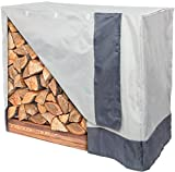 Reusable Revolution Log Rack Cover - Water Resistant Outdoor 4 ft Firewood Cover by (Grey)
