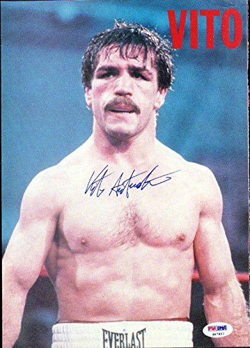 Vito Antuofermo Authentic Autographed Signed Magazine Page Photo S47467 PSA/DNA Certified Autographed Boxing Magazines