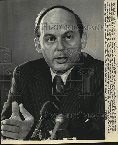 1972 Press Photo Sen. Adlai Stevenson at news conference in Washington - Historic Images