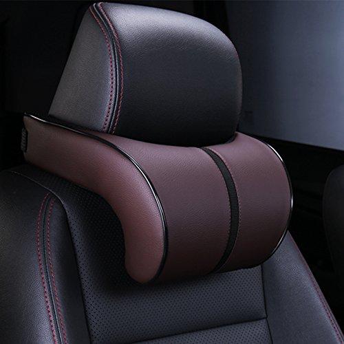 Auto Kopfpolster, Platz Speicher Baumwolle Kissen, hochwertiges Leder Auto Nackenkissen