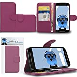 iTALKonline Motorola Moto G (2014) Moto G2 2nd Generation Purple PU Leather Executive Multi-Function Wallet Case Cover Organiser Flip with Credit / Business Card Money Holder Integrated Horizontal Viewing Stand