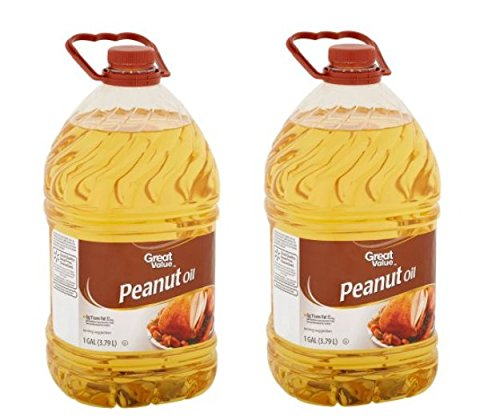 Great Value Peanut Oil Perfect For Frying, 128 oz (Pack of 2)