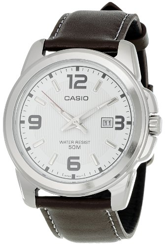 Casio MTP1314L 7AV Leather Quartz Silver