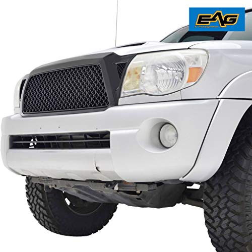EAG Replacement Upper Grille ABS Black Mesh Front Hood Grill Fit for 05-11 Toyota Tacoma