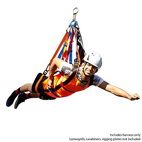 Fusion Climb Super Ripper Ii Superman Style Head First Zipline Harness Only
