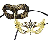 Couple Mask Steampunk Half face Princess Charming Venetian Masquerade Mask