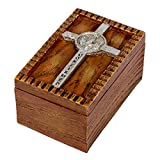 Confirmed in Christ Wood Finish Small Confirmation Jewelry Keepsake Box