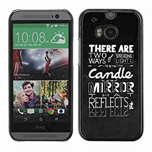 Planetar® ( Spreading The Light ) Fundas Cover Cubre Hard Case Cover All New HTC One (M8)