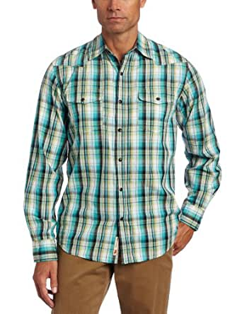 Dakota Grizzly Men's Harper Long Sleeve Western Snap Button Shirt, Amazon, X-Large