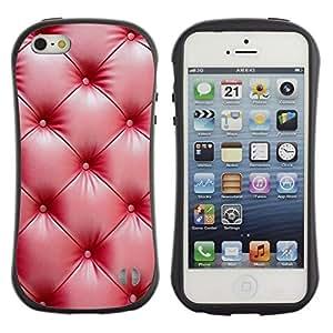 "Pulsar iFace Series Tpu silicona Carcasa Funda Case para Apple iPhone 5 / iPhone 5S , Cuero rojo Arrugas Brillante"""