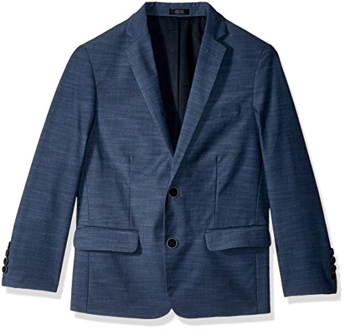Calvin Klein Big Boys' Patterned Blazer Jacket, Blue Weave, ()