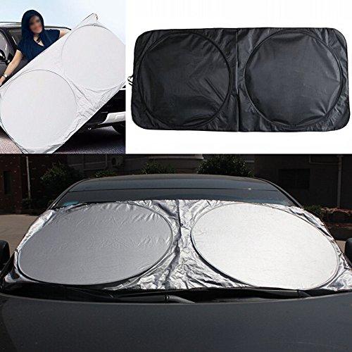 Folding Jumbo Car Window Sunshade Auto Visor Windshield Block Cover UV Rays Sun Protector Sunshade Universal Car Sun Shade for Side and Rear Window Baby Safty