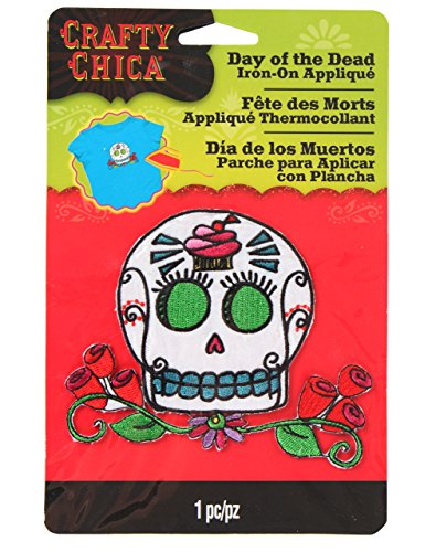 Crafty Chica Skull Cupcake Appliques