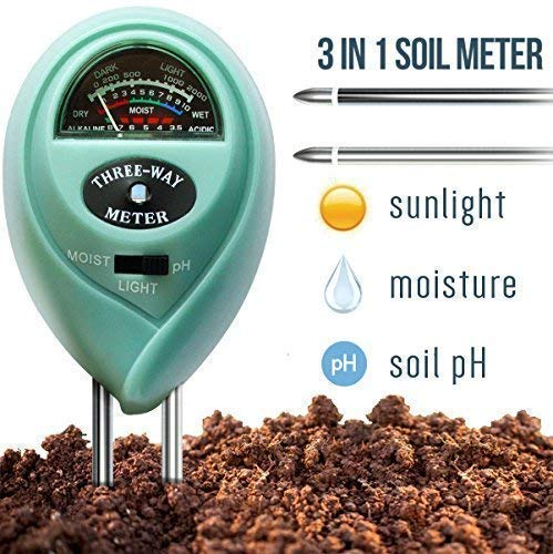 (7Pros Soil Test Kit Moisture Meter 3 in 1 Plant Water Meter Light Tester for Potted Plants, Soil PH Meter for Garden, Farm, Lawn Indoor/Outdoor Plant Care Tool, Easy Read Indicator No Battery Needed)