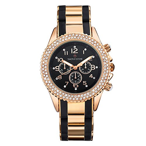 Timothy Stone Women's AMBER-BICOLOR Rose Gold-Tone and Black Watch