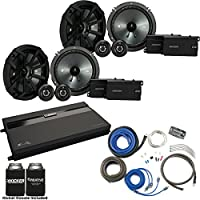 Kicker Two Pairs Of 43CSS654 6.5 Component Speakers, a MB Quart ZA2-1600.4 4-Channel Amp & Wire Kit
