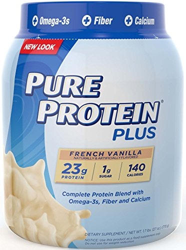 Pure Protein plus Poudre Nutrition, Vanille française, 1,7 Pound