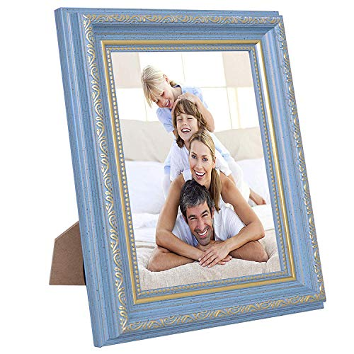 (WXB Home 4x6 Picture Frames Flower Blue,PS Materials,HD PVC Transparent Board, Tabletop or Wall,Family,Scenery and Baby Photo)