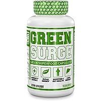 Green Surge Green Superfood Capsules - Keto Friendly Greens Supplement w/Spirulina, Wheat & Barley Grass - Immune Support, Probiotics & Digestive Enzymes - 120 Veggie Pills…