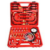 FreeTec Pump 0-140 PSI Pro Fuel Injection Pressure Tester Kit Oil Fuel Pump Injector Injection Tester