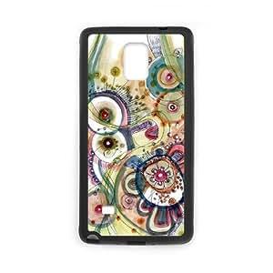 Samsung Galaxy Note 4 Case, Abstract Watercolor Hard Case For Samsung Galaxy Note 4(Black) Yearinspace057829