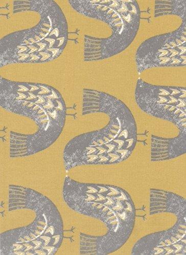 04525a5bc1a Oilcloth Tablecloth PVC Tablecloth    1459 SCANDI BIRDS MUSTARD 134 x 100cm  Matt  Amazon.co.uk  Kitchen   Home