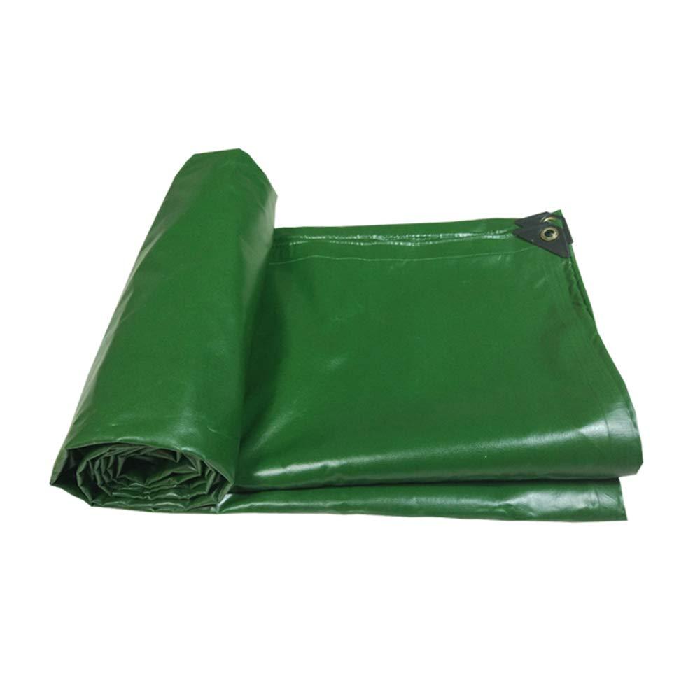Plane YNN PVC, Wasserdichte verstärkte Seitenwände LKW-Dachüberdachung - 600 g / ㎡, 0,5 mm (Farbe : Grün, größe : 4  10m)