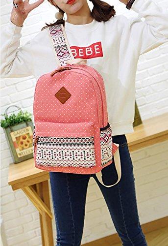 54e86a090663 HONEYJOY Canvas Backpack Set 3 Pieces Kids Book Bag School - Import It All