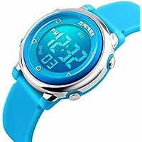 Kids Digital Watch Outdoor Sports Watches Boy Girls LED Alarm Wrist watch Children's Wristwatches Blue