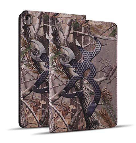 Camo Case Cover - iPad 9.7 2018/2017 Case, iPad Air 2, iPad Air, Pro 9.7 Case, Soft Rubber Back Cover, Protective Leather Case, Adjustable Stand Auto Wake/Sleep Smart Case for Apple ipad 6th/5th Gen, Woodland Camo