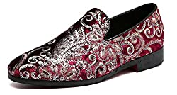 Sparkling Embroidery Flower Slip-On
