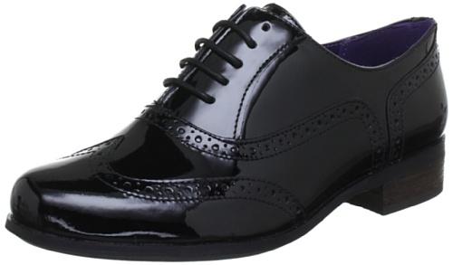 Negro cordones de 20350649 mujer Oak Zapatos para Patente Clarks Hamble nxvZqI8