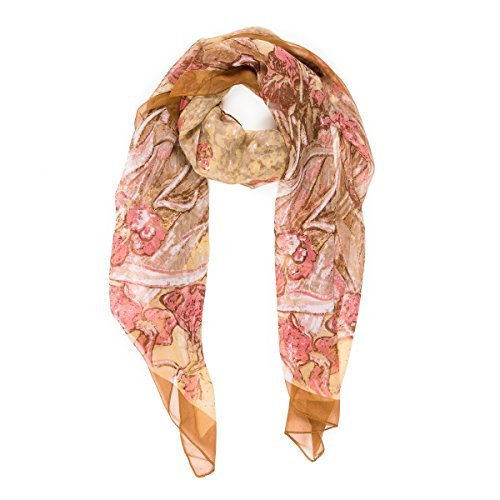 Scarf for Women Lightweight Fashion Summer Fall Floral Flower Oil Paint Scarves Shawl Wraps by Melifluos (HCU05) ()