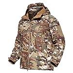 Veste Softshell Tactique Hommes d'hiver Camouflage armée Combat Veste à Capuche Airsoft Vestes Militaires Randonnée 8