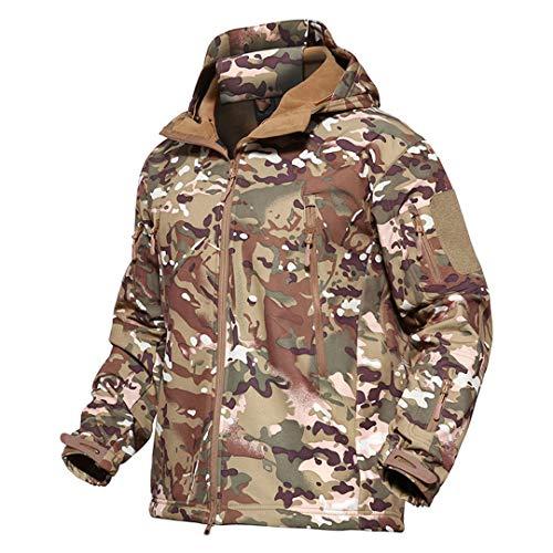 Veste Softshell Tactique Hommes d'hiver Camouflage armée Combat Veste à Capuche Airsoft Vestes Militaires Randonnée 1