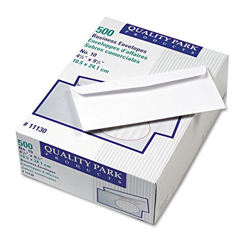 Quality Park Ridge Embossed Exec Business Envelopes, #10, White, 500/Box ()