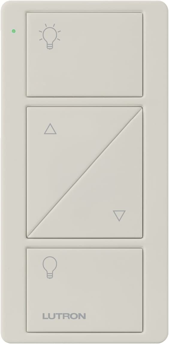 Lutron Pico Remote with Raise/Lower for Caseta Wireless Smart Dimmer Switches, PJ2-2BRL-GLA-L01, Light Almond