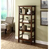Titian Wood Bookcase - Antique Tobacco