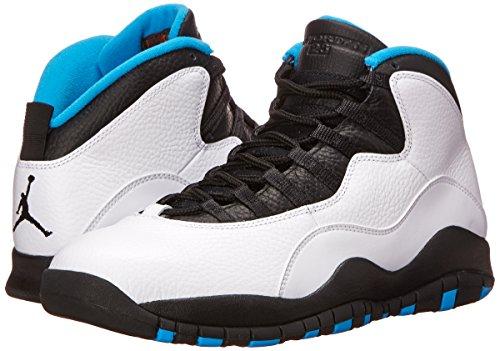 Nike Dk Powder Uomo white Scarpe Bianco Fitness black Retro Jordan 10 blu Da Air Blue nero qpAw7rBqx