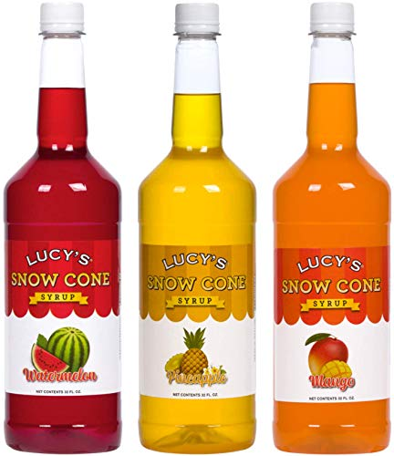 Lucy's Shaved Ice Snow Cone Syrup - Watermelon,