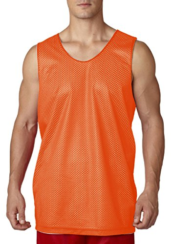 A4 NF1270-ORW Reversible Mesh Tank Top, - Orw The