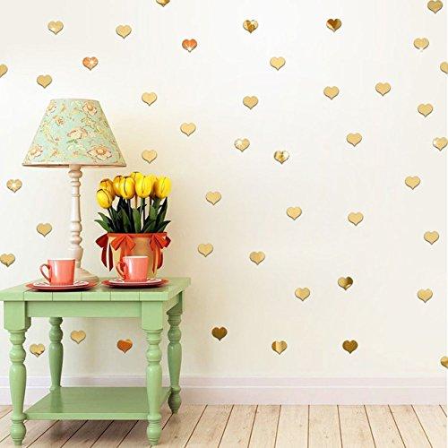 1 Set (100 Pcs/Set) Acrylic Mirrored Wall Sticker DIY Mirror Living Room Bedroom Boys Nursery Professional Popular Dream Butterfly World Moon Star Ocean Sun Flowers Vinyl Home Mural Art Decor, - Set Mirrored Headboard