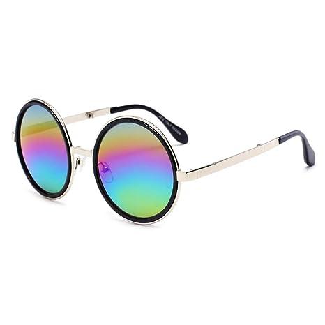 Fjiujin,Gafas de Sol Unisex Moderno Moderno Forma Redonda ...