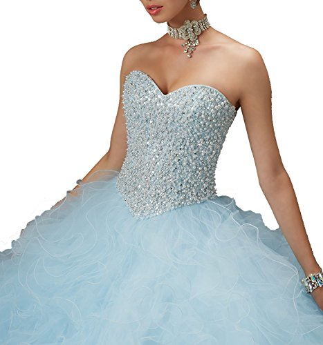 Fanciest Women's Blue Sweet Ball Yellow 2016 Quinceanera Dresses Gowns 16 Beaded ffwr1qd