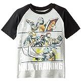 Teenage Mutant Ninja Turtles Big Boys' Short Sleeve Raglan T-Shirt Shirt, Heather/Black, Medium / 10/12