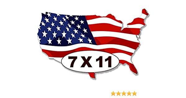 sticker decal car laptop macbook kitchen room made in usa flag american america
