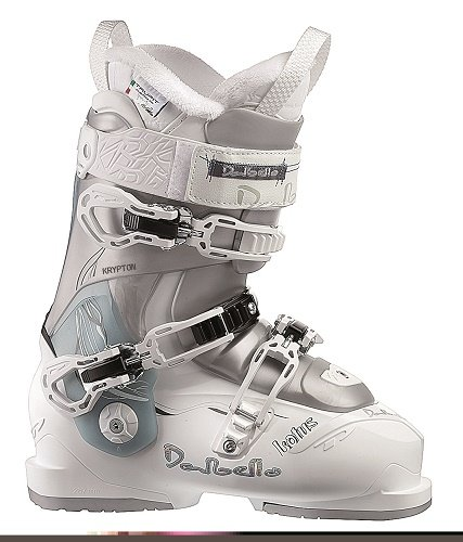 Boots Womens Silver Ski - 2014 Dalbello KR2 Lotus Womens Ski Boots White Silver Size 24.5