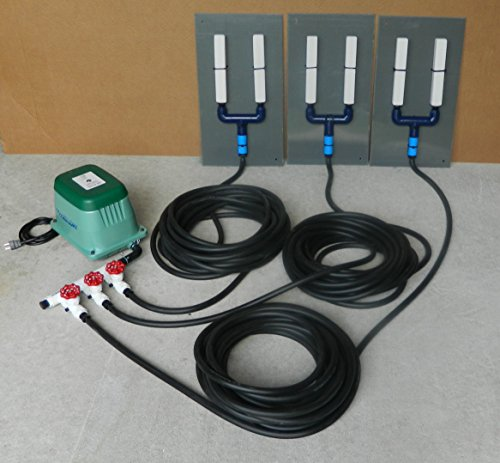 Air Diffuser System for Koi Ponds and Water Gardens Model #ADS1203 (For Ponds To 3 Surface Acres) By: Bubblemac Industries, Inc. by BubbleMac Aeration Products