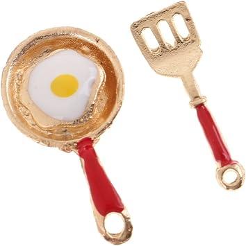 Amazon.es: Escala 1:12 Miniatura Sartenes de Huevos Fritos y ...